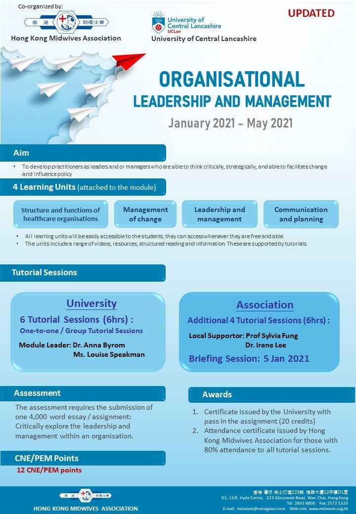 Organisational Leadership and Management